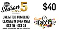 Oct 19th - Oct 31 2020 Unlimited Tumbling